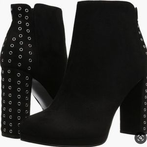 GUESS Beverly Black Vegan Suede Ankle Boots 7